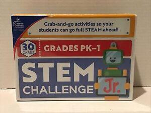 Carson Dellosa Education CD-140352 Stem Challenge JR Cards Grades Pre-K to 1