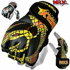 Mrx Mma Grappling Gloves Cage Boxing Fight, Snake Design (Medium|Black/Yellow)