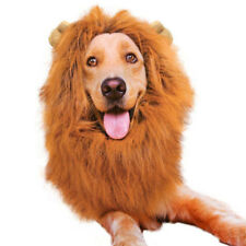 Pet Costume Lion Mane Wig For Dogs Hair Halloween Fancy Dress Neck Girth 70cm Up