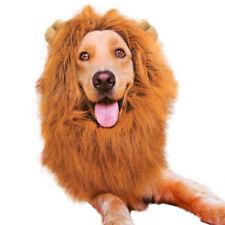 Pet Costume Lion Mane parrucca per Cani Capelli Halloween Fancy Dress collo circonferenza 70 CM fino
