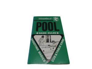 International Tournament Pool Game Rules Book - Shooting Basics