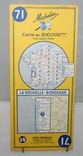 France - Michelin 1:200,000 Map - La Rochelle & Bordeaux - Sheet 71 - 1964