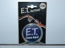 E.T. THE EXTRA TERRESTRIAL BUTTONS 'E.T. COME BACK' MOSC 1980s UNIVERSAL HOLLAND