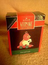 Hallmark Keepsake 1990 Miniature  Keepsake Ornament Lion and Lamb # 05676