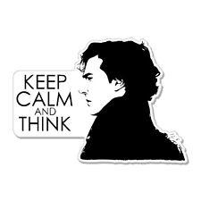 "Keep Calm and Think car bumper sticker decal 6"" x 4"""