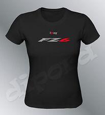 T-shirt customised FZ6 Sml XL black woman round neck moto FZ 6