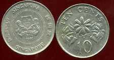 SINGAPOURE 10 ten cents 1991   ( bis )