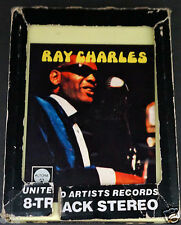 RAY CHARLES & OTHER JAZZ GREATS 8 Track Audio Tape Cartridge Complete With Box
