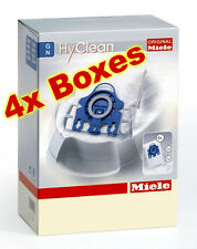 4x Boxes GN Vacuum Bags , Hyclean 3D Type,Genuine Miele Fits 5000-8000-C1-C