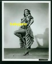 LINDA DARNELL VINTAGE 8X10 PHOTO 1940 SPANISH COSTUME PINUP FISHNET STOCKINGS
