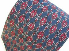 PIATELLI ROME NY 100% SILK MENS NECK TIE EQUESTRIAN STIRRUP and ROPE PRINT VTG