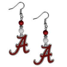 Alabama Crimson Tide Dangle Earrings (Fan Bead) NCAA Licensed Jewelry