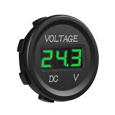 Universal Car DC 12V 24V Voltmeter Green LED Digital Display Waterproof Voltage
