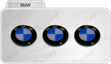 3 Adesivi Resinati Sticker 3D BMW 11 mm Mtech Key Emblem Badge Portachiavi