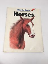 Vintage How To Draw Horses, Carrie A. Snyder Paperback Drawing Instruction Book