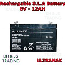 Ultra Max 6V 12AH (4.5AH) Battery Alarm Security Response Solar Alarm & Bell