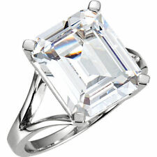 GIA cert Emerald cut Diamond Solitaire Engagement Ring 14k Gold H VS1 1.00 tcw