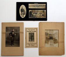 Fort Atkinson Wisconsin High School Football Team Ephemera Cabinet Cards 1906
