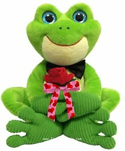 """First & Main Hermie the Frog Plush Valentine's Day Stuffed Animal 15"""""""