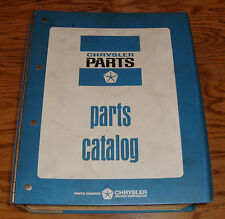 Original 1979 Plymouth Dodge Imports Mopar Car Parts List Catalog Manual 79