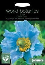 Johnsons World Botanics Flower - Poppy Tibetan Poppy - 100 Seeds
