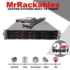 2U Supermicro 12 bay 2x Xeon Low Power Quad Core SAS2 6Gbs FREENAS UNRAID Server