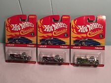 3 Hot Wheels Classics Limited Edition T-Bucket Purple Antifreeze Pink Spectra