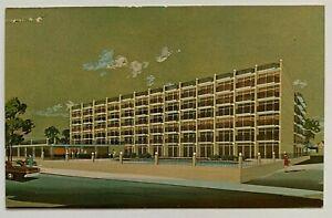 NJ Postcard Cape May New Jersey Atlas Motor Inn Madison & Beach illustrated