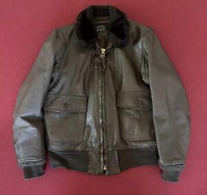 Genuine surplus US Navy G-1 leather flight jacket with 8415 designator on tag.