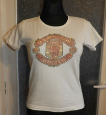 Manchester United Official Merchandise Women's White T-Shirt Short Sleeve Size S