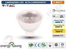 LAMPADINA LED V-TAC GU10 MR16 GU5.3 DA 2W A 7W 3000 4500 6000 ALTA LUMINOSITA