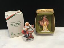 2 Norman Rockwell Porcelain Ornaments 1980 Santa's Good Boys & 1979 Tiny Tim