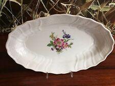 HUTSCHENREUTHER  Form DRESDEN - ovale Platte 30cm mit Blumendekor