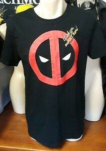 Marvel Comics Men's Medium Deadpool Wish You Weren't Here! Embroidered Shirt NEW