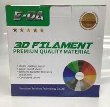 E-DA Premium quality ABS 3D printer filament 1.75mm 1KG/2.2lbs Colour Blue