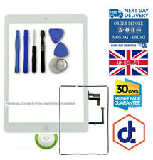 Touch Screen Replacement Digitizer Front Glass For iPad 5 Air Home Button White