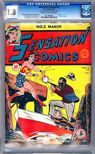 SENSATION COMICS #3 CGC 1.8 *3RD WONDER WOMAN APPEARANCE* H.G. PETER COVER 1942