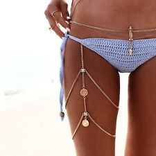 Body Leg Chain - Beach Summer - Fashion Boho Women's Jewellery Gold **SALE**