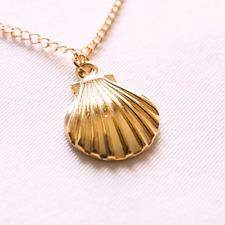 e8e92af9b0ca Concha de Oro Collar Cadena Colgante Collar Joyería Regalo
