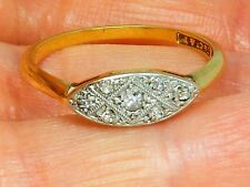 18ct Gold 18k Gold  Antique Art Deco Diamond  ring size O