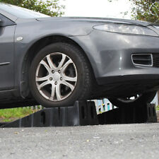 HEAVY DUTY PRO 4 TON HOME DIY LOW CLEARANCE WIDE CAR 4X4 VAN PLASTIC RAMP PAIR