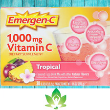 Alacer, Emergen-C 1000mg Tropical Flavour Free Post SYNERGY UK