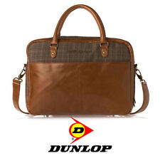 Executive Laptop Messenger Bag - Quality Faux Leather & Fabric - Brown