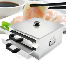 2 Layer Steamer Stainless Steel Food Cooker Rice Roll Steaming Machine + Drawer