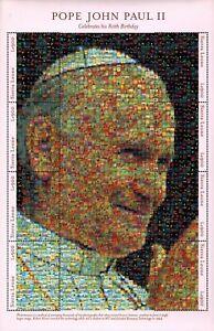 MODERN GEMS - Sierra Leone - Pope John Paul II 80th Birthday - Sheet of 8 - MNH