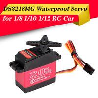 Waterproof 20KG Gear Digital Servo for 1/8 1/10 1/12 Scale RC Car Buggy Crawler