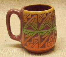 Ute Mountain Native American Pottery Medium Coffee Mug Done in Navajo Design