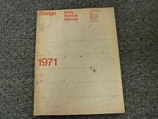 1971 Dodge Dart Challenger Coronet Charger Polara Monaco Body Repair Manual