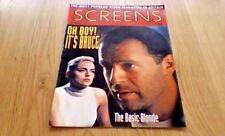 SCREENS VIDEO 1992 BRUCE WILLIS THE LAST BOY SCOUT SHARON STONE BASIC INSTINCT