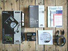 Sony MZ RH710 Hi MD Portable Mini Disc Music Player Black Walkman MP3 WAV WMA